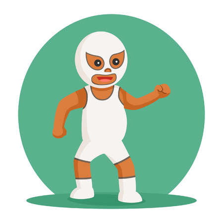 african lucha libre taunt pose Illustration