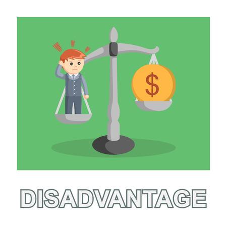 businessman disadvantage photo text style Illusztráció