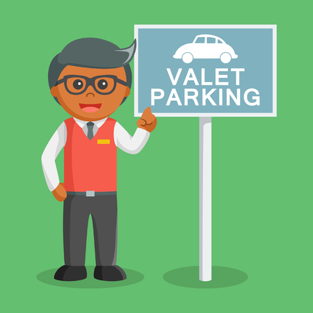 african Valet parking with valet sign