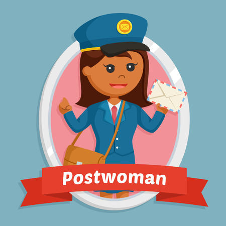 african post woman in emblem Stok Fotoğraf - 95373367