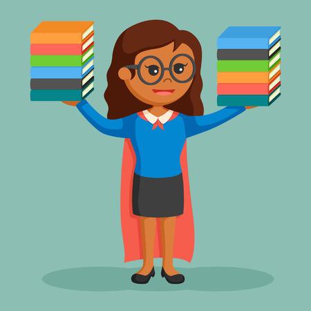 Super African librarian girl