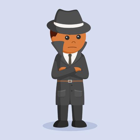 Afrikaanse detective staande pose