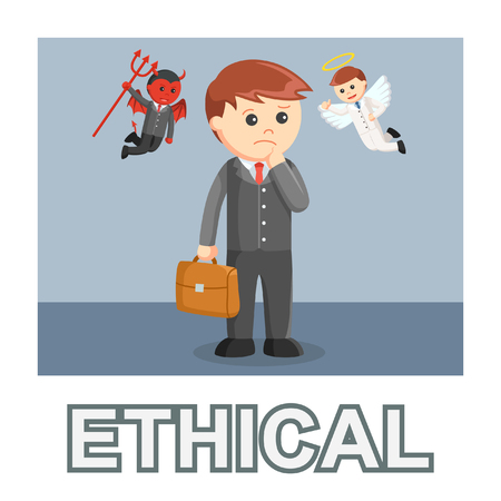 Businessman ethical photo text style