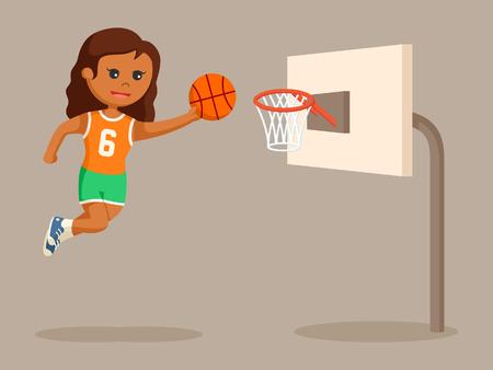 african basket ball player girl jumping Фото со стока - 95303807