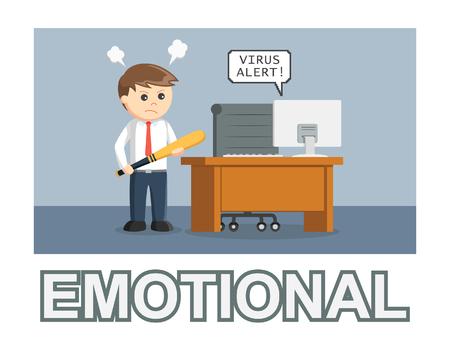 estilo de texto de foto emocional empresario Ilustración de vector