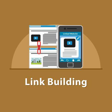 SEO Link building in smartphone