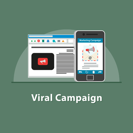 SEO Viral campaign in smartphone Vectores