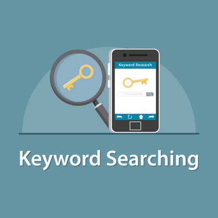 SEO Keyword searching in smartphone