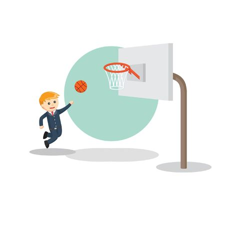 playing basketball information vector illustration