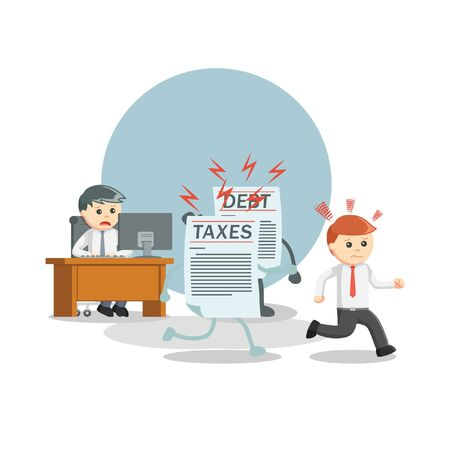 escape for debt and tax information illustration
