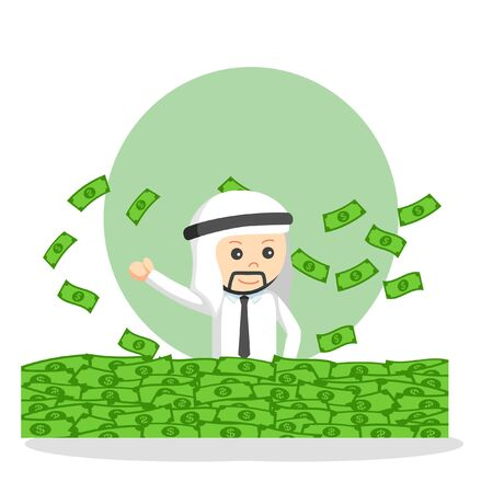 Sultan job info design vector illustration  イラスト・ベクター素材
