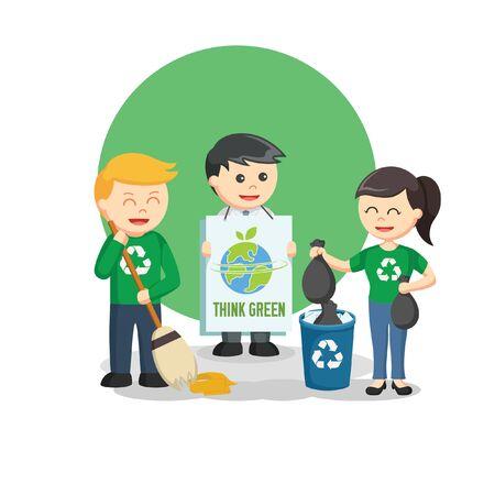 think green information vector illustration