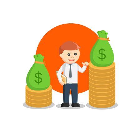 business rich man design vector illustration