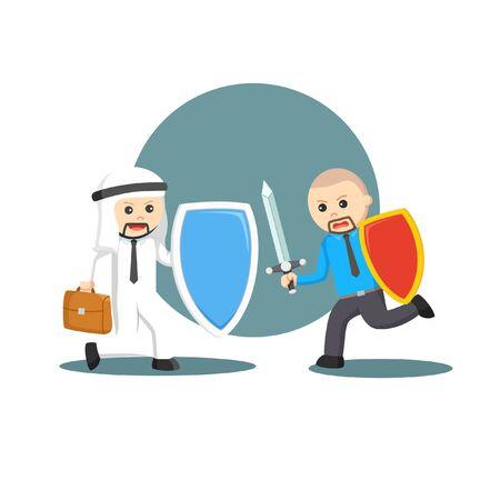 Defense from debt information illustration
