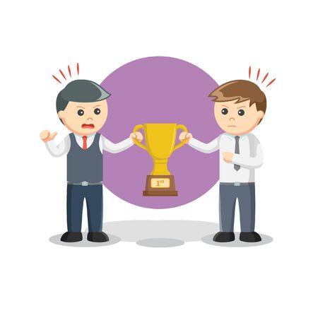 fightig for trophy information illustration