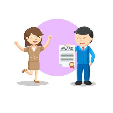 Friend Award information vector illustration  イラスト・ベクター素材