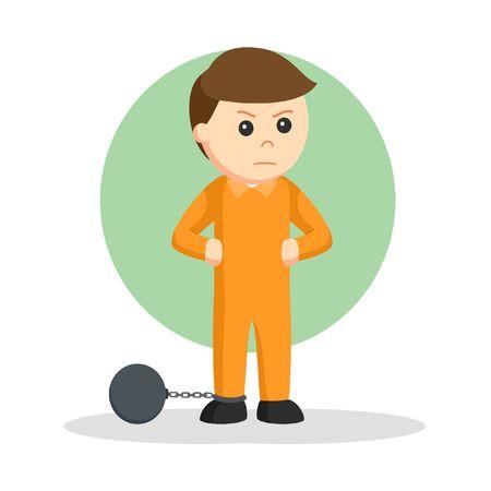 Prisoners in cells design vector illustration