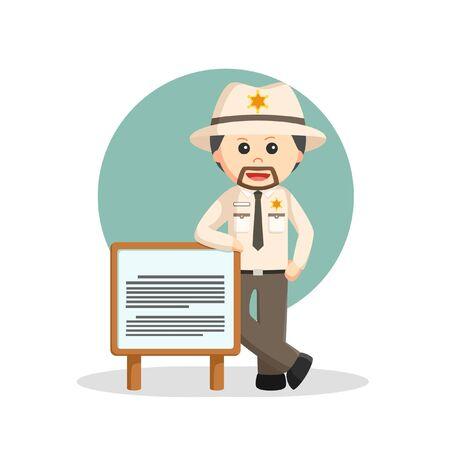 Standing Beside Job information illustration  イラスト・ベクター素材