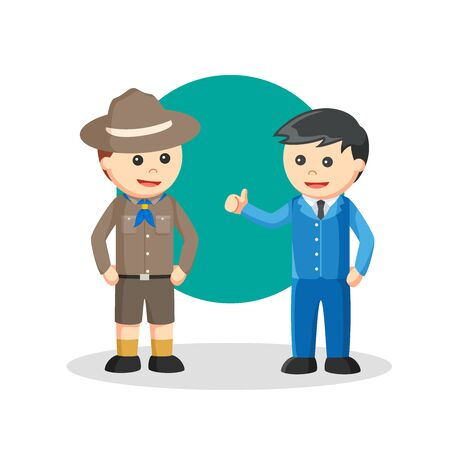 Boy Scout job design vector illustration