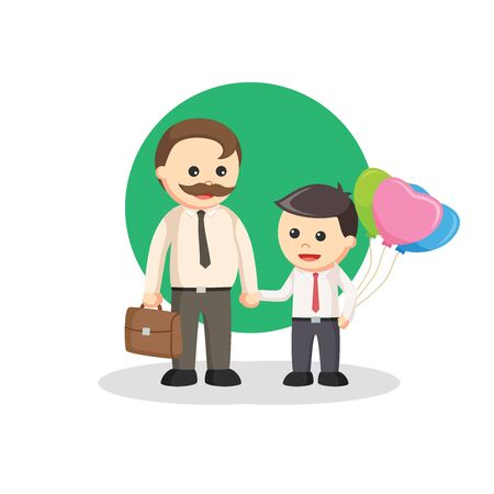 outside business activities vector illustration