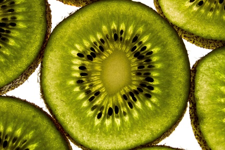 two and a half: sliced kiwi