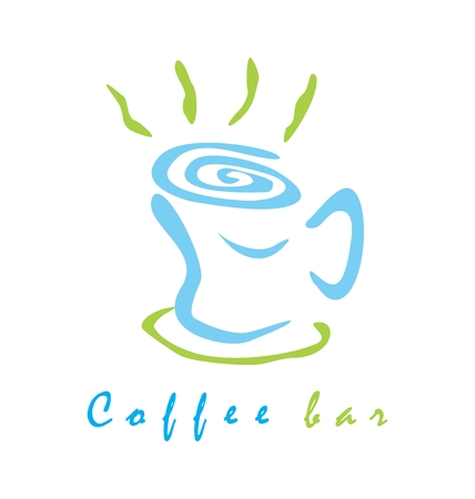 Coffee bar sign   Vector