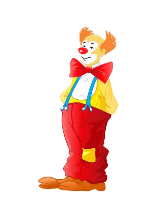 red nose: Clown vector illustration  Illustration