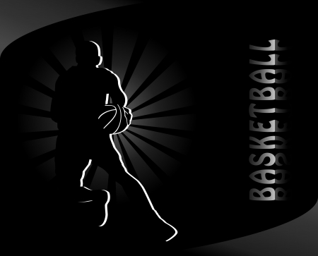 hand baskets: Basketball background Illustration