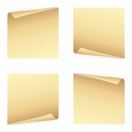 Set of note papers Vector