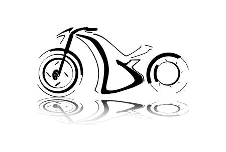 Black motorcycle silhouette Vector