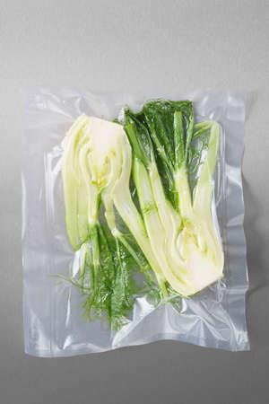 Vacuum sealed fresh fennel for sous vide cooking
