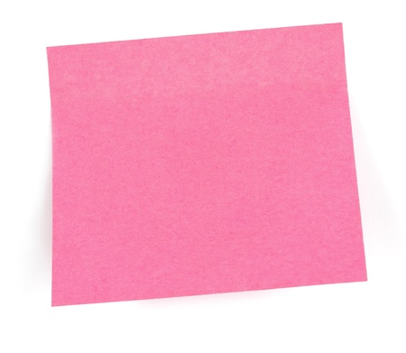 business post-its on wite background on which you can write different messages photo