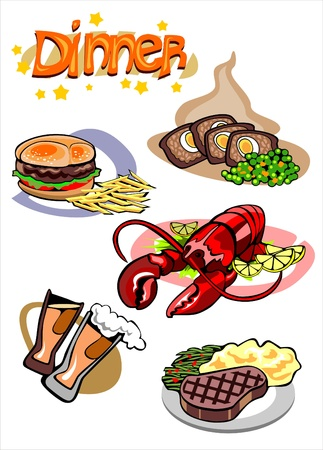 Dinner Menu Pictures Vector