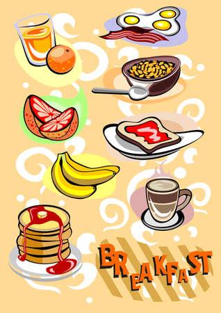 Breakfast menu Pictures Stock Vector - 12491632