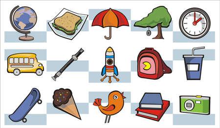 School Days Icons Set