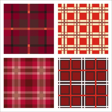 seamless red cells fabric pattern 4 variations