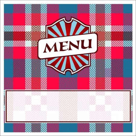 Menu Card Design template red blue cells Illustration