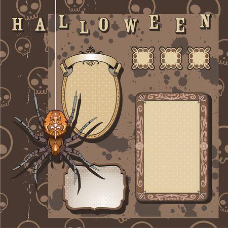 halloween scrapbooking kit Illustration