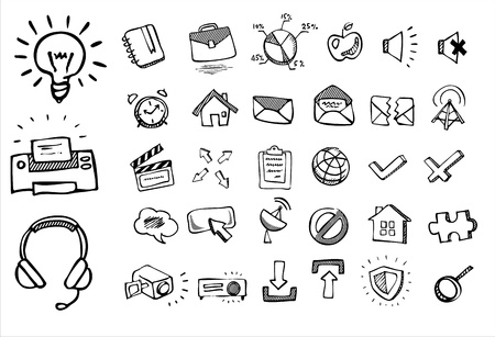 doodle web icons Stock Vector - 16885787