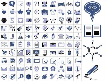 iconos educacion: 100 iconos de educaci�n