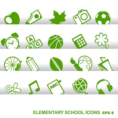 internet cafe: vector school and education icons