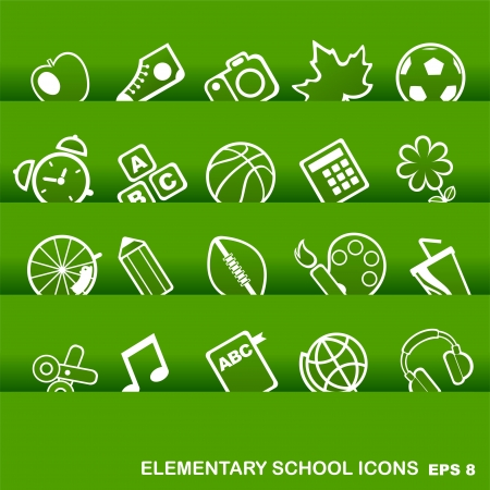 vector school and education icons Vector
