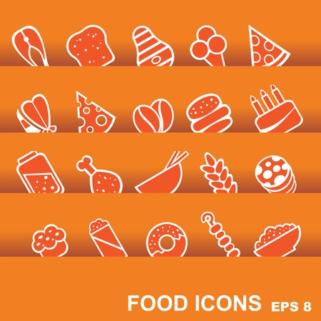 burrito: vector food icons