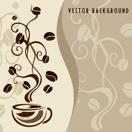 coffee background Illustration