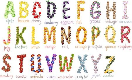 scholen alfabetische letters met handgetekende doodle font Stock Illustratie
