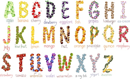 school alphabetical letters with handdrawn doodle font Vector