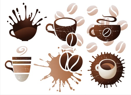 hot spot: Coffee cup icons set