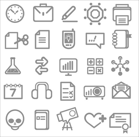 25 school and college icons. Education icons Vector