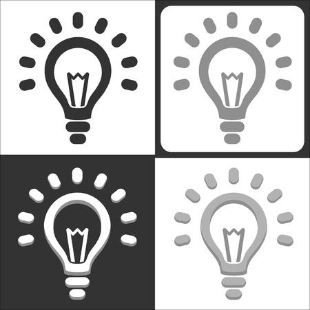 shining light: Light bulb vector icon Illustration