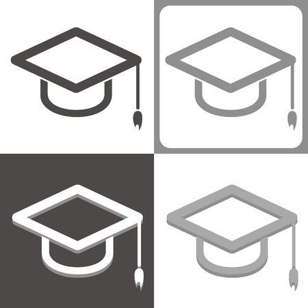 graduate hat vector icon Illustration